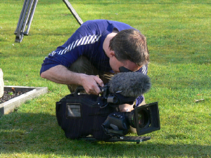 "Steve Phillipps filming for the BBC's ""Nature of Britain"""