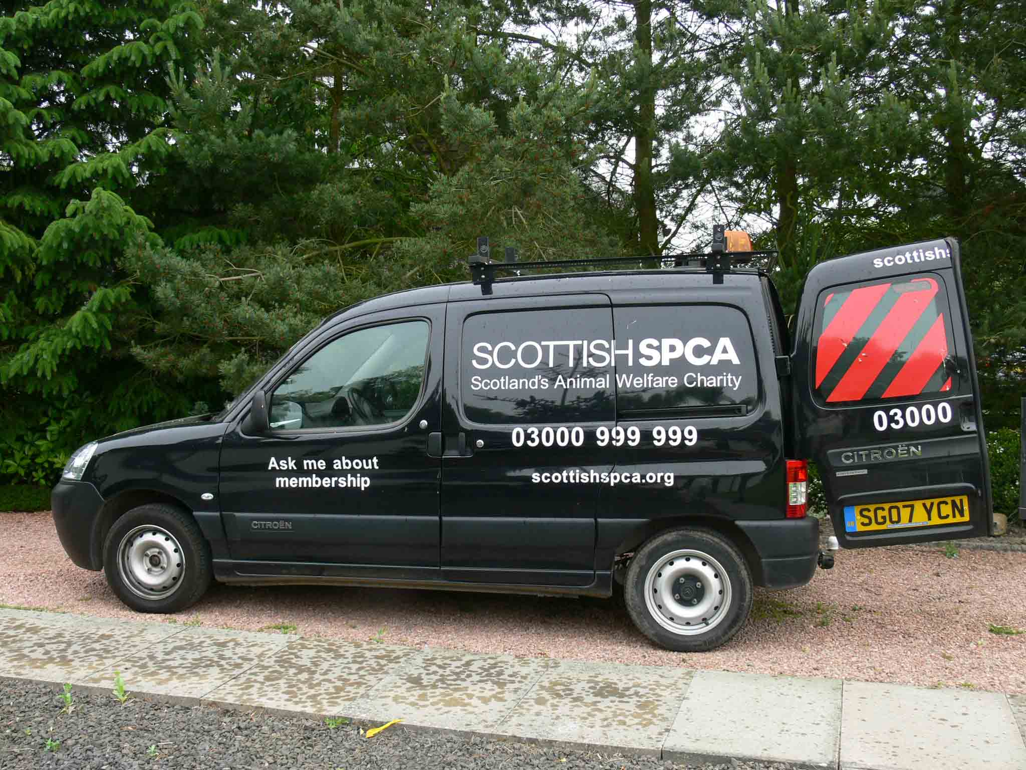 Scottish SPCA officers transport